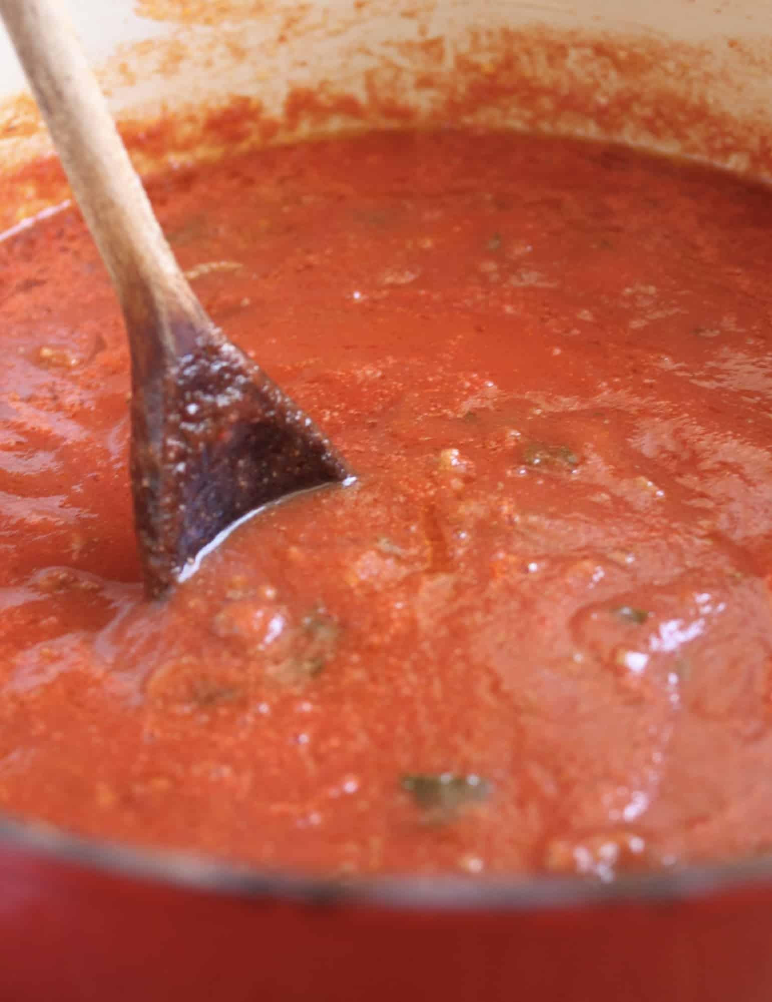 stirring sauce