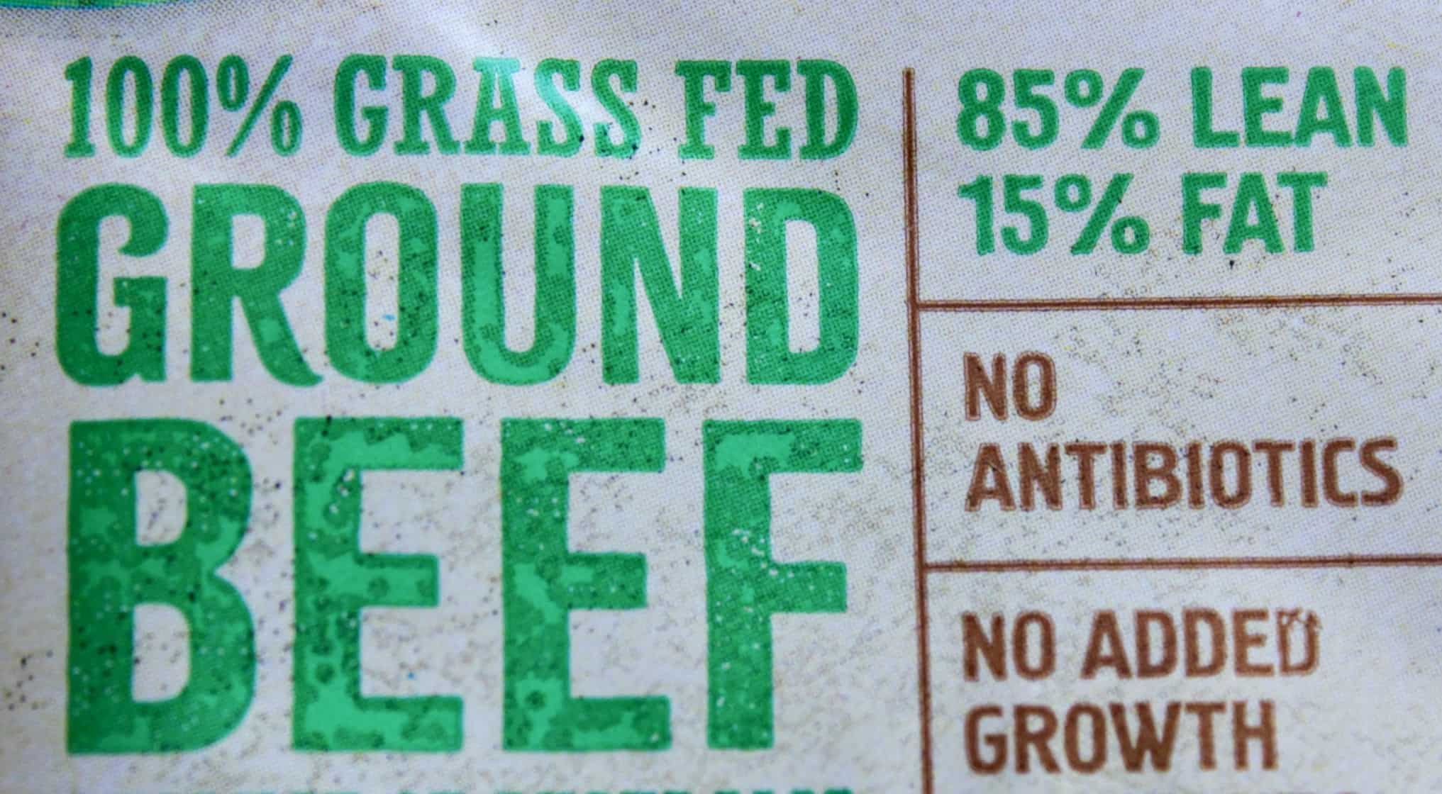 grass fed ground beef package