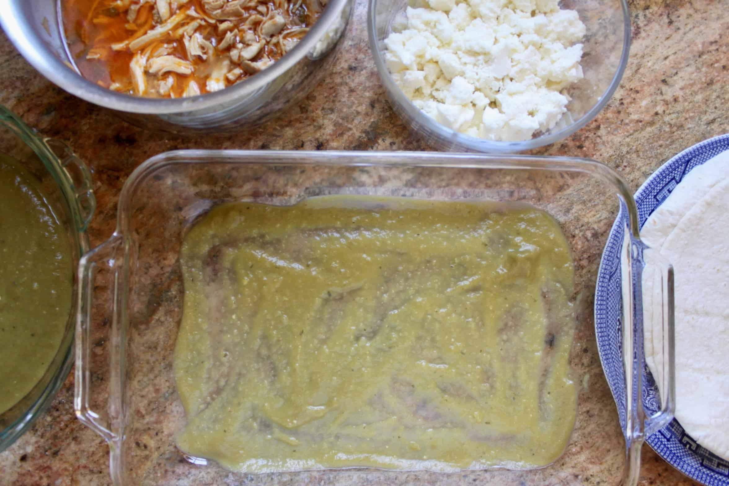 enchilada making station