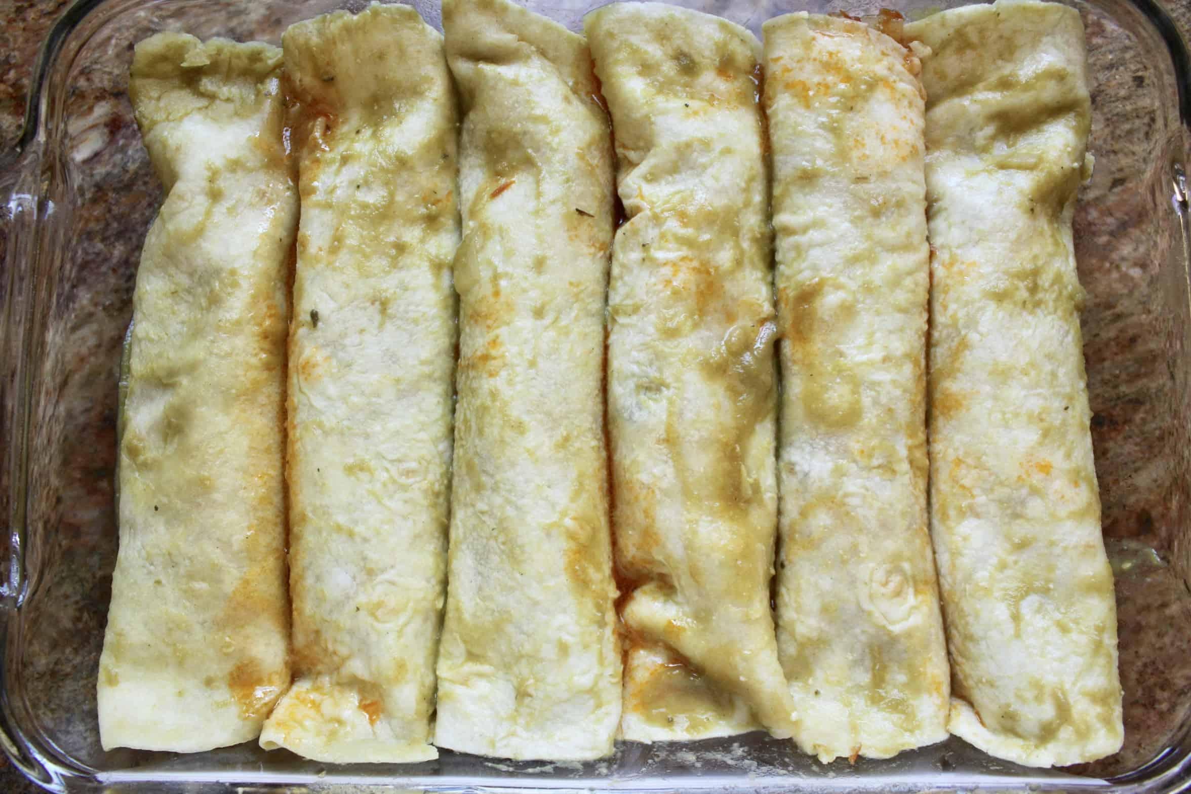 enchiladas in a tray