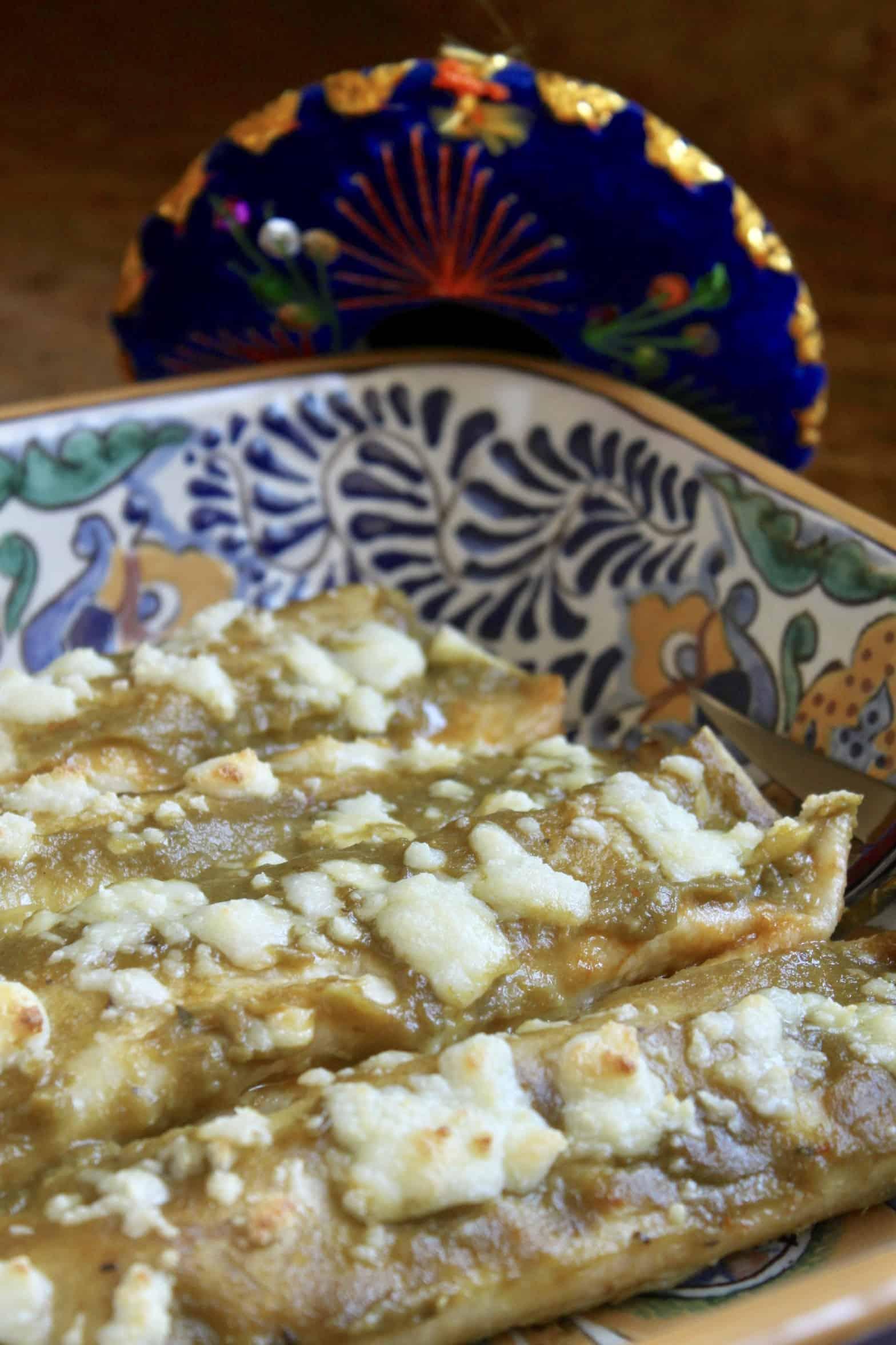 enchiladas in a Mexican dish