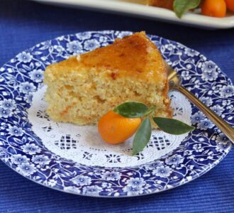kumquat cake on a plate