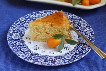 kumquat cake on a plate