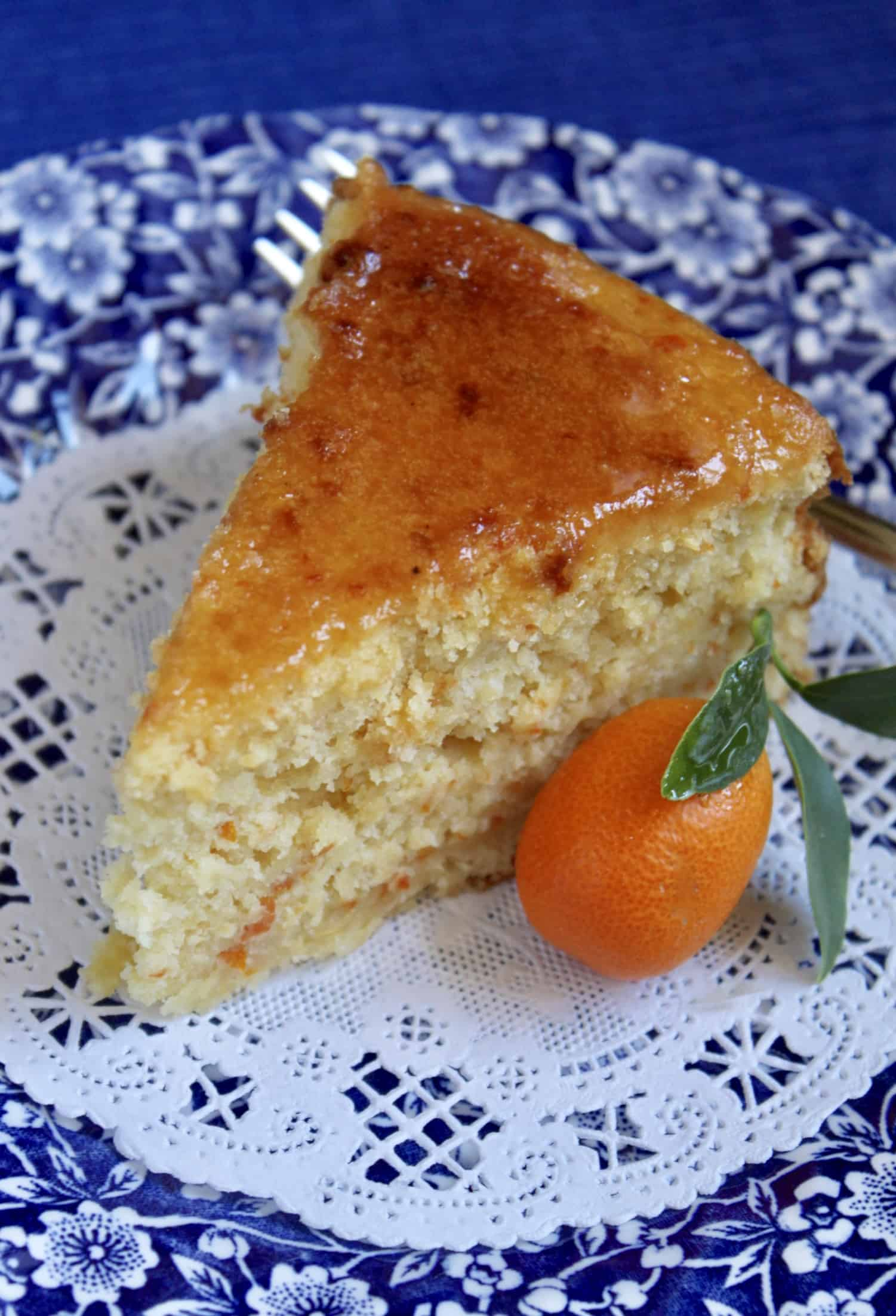 kumquat and cake on a plate