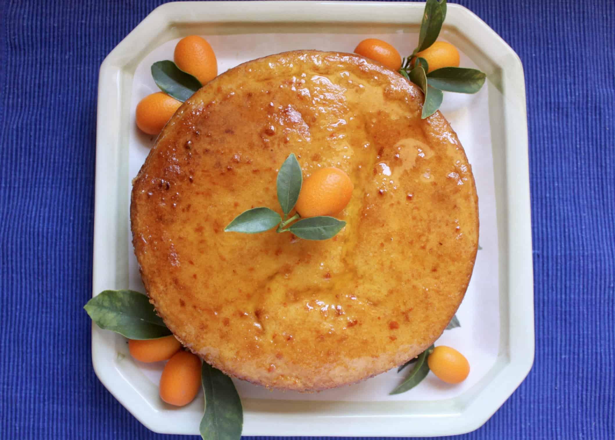kumquat cake overhead