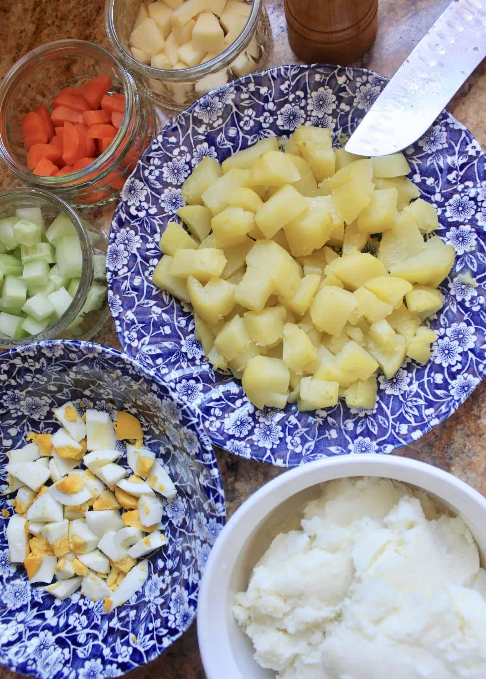 ingredients for gamja salad