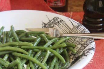 green bean salad in a bowl