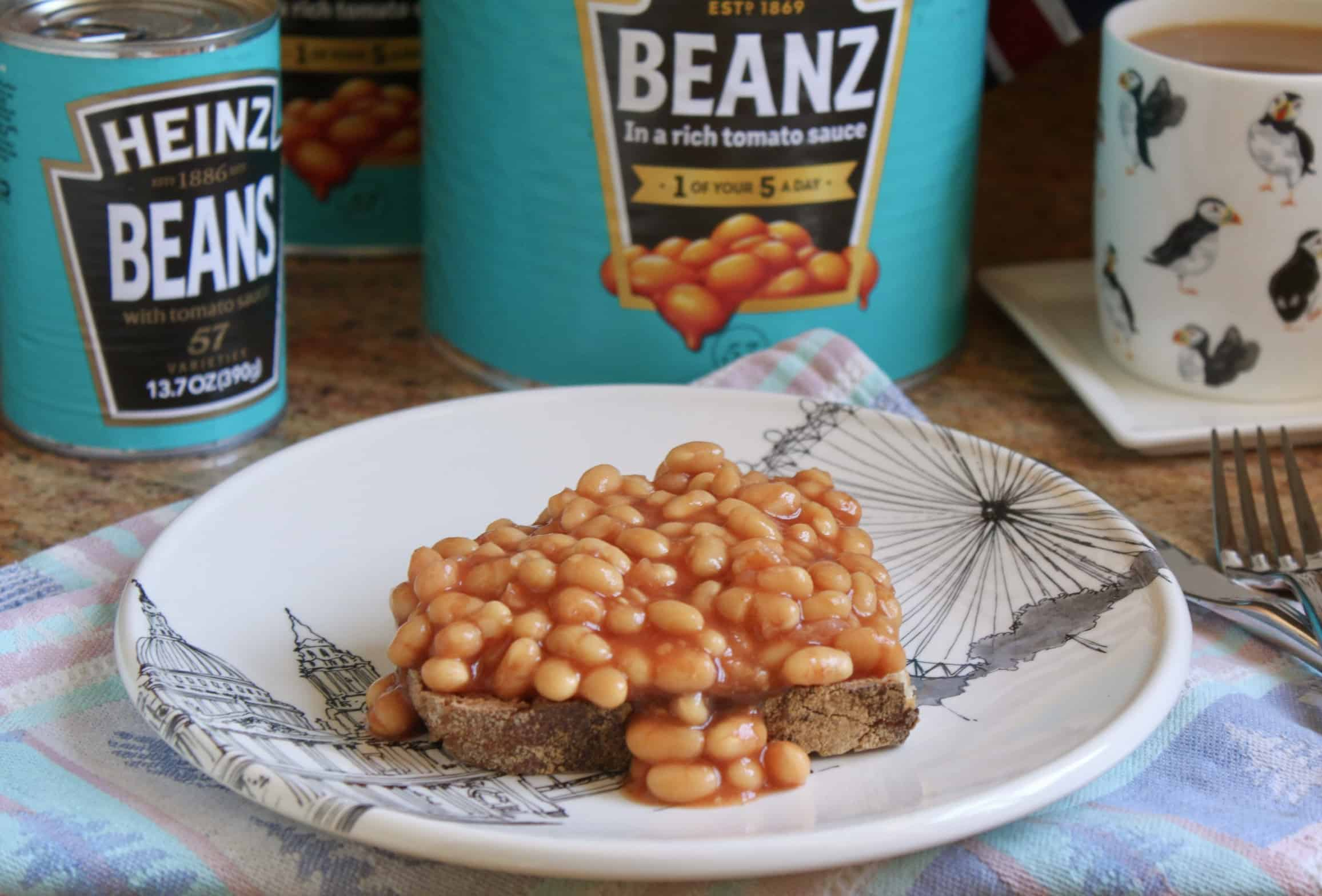 Beans on toast and tin of beans