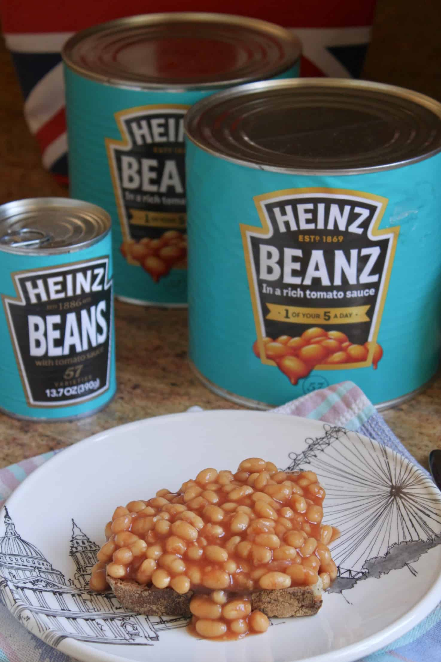 2 huge tins of Heinz beans and beans on toast