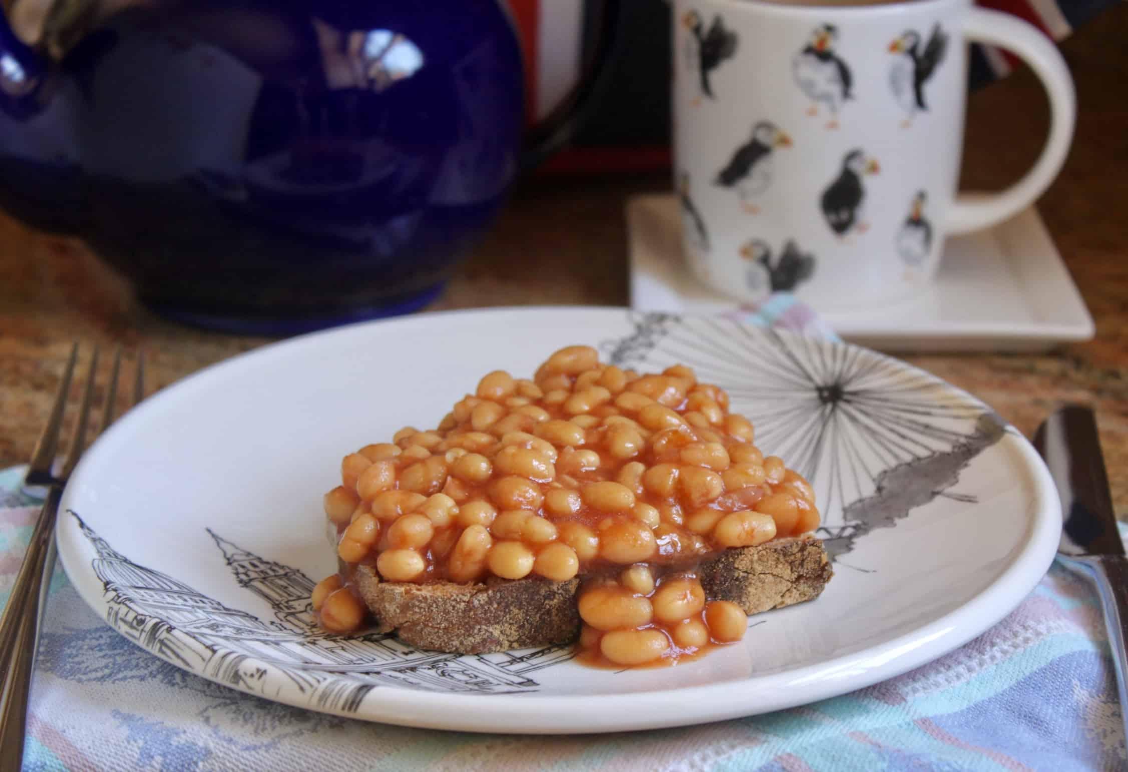 lunch plate with teapot and tea mug