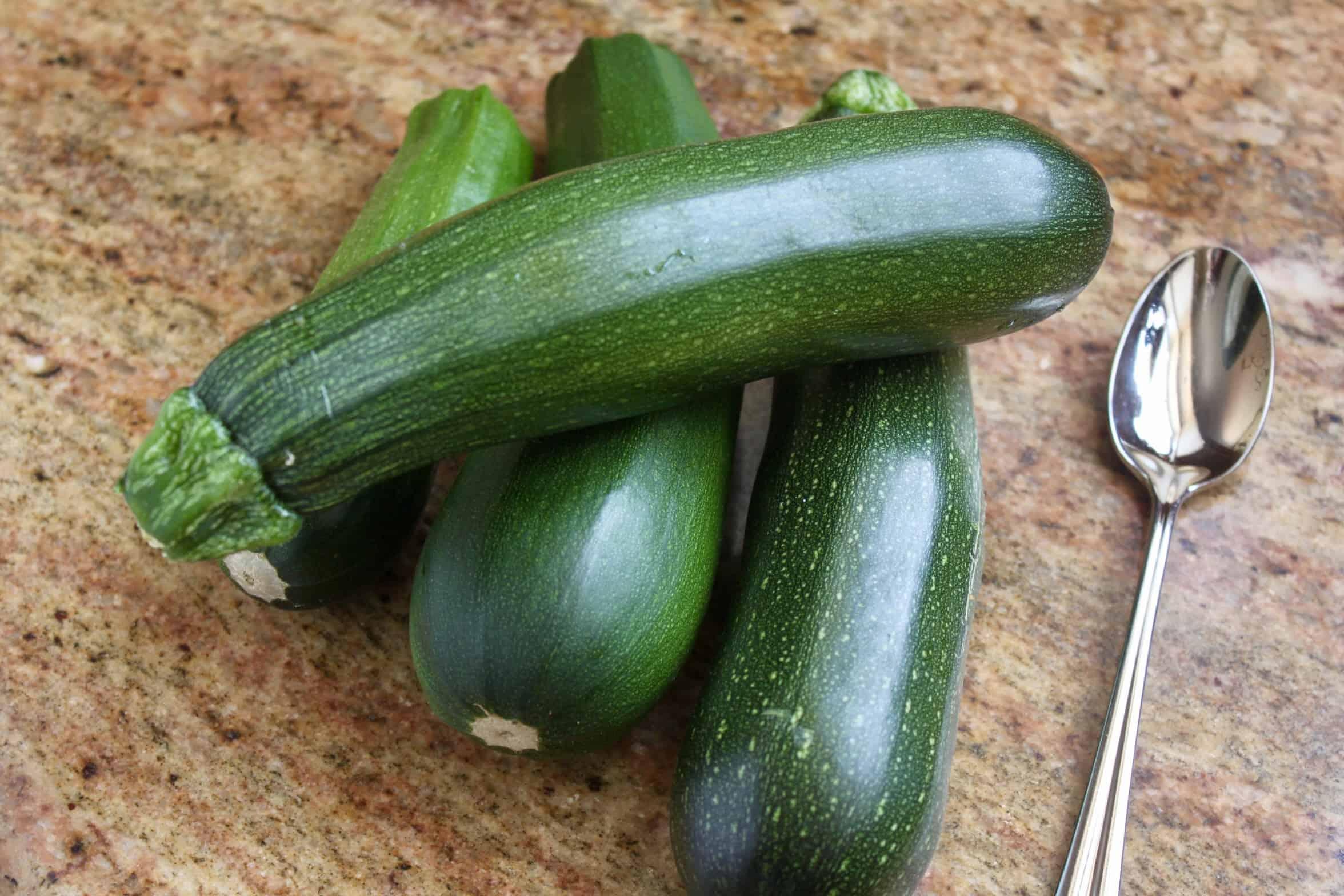 4 homegrown zucchini