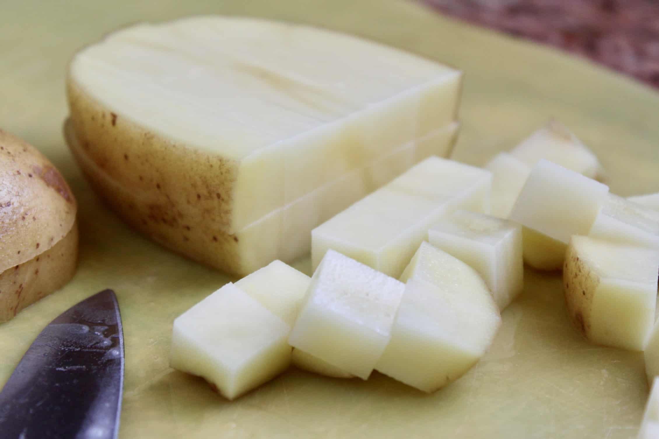 diced potato for frittata