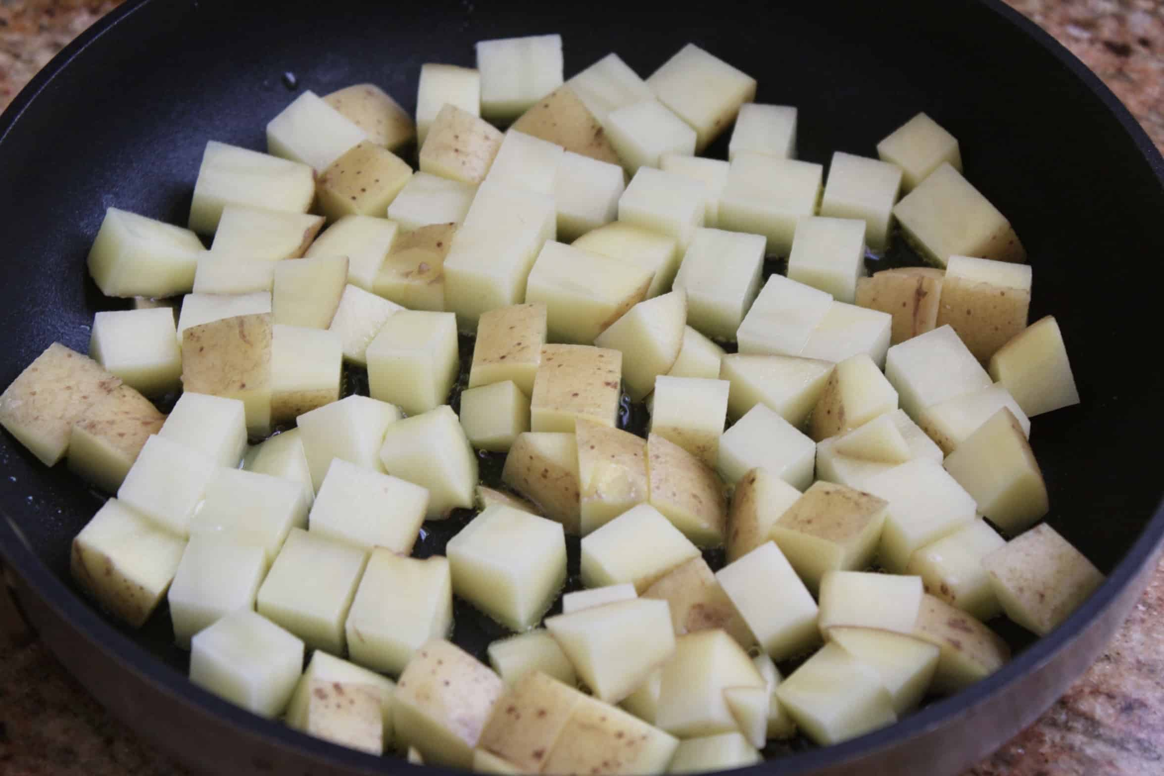 frying diced potatoes