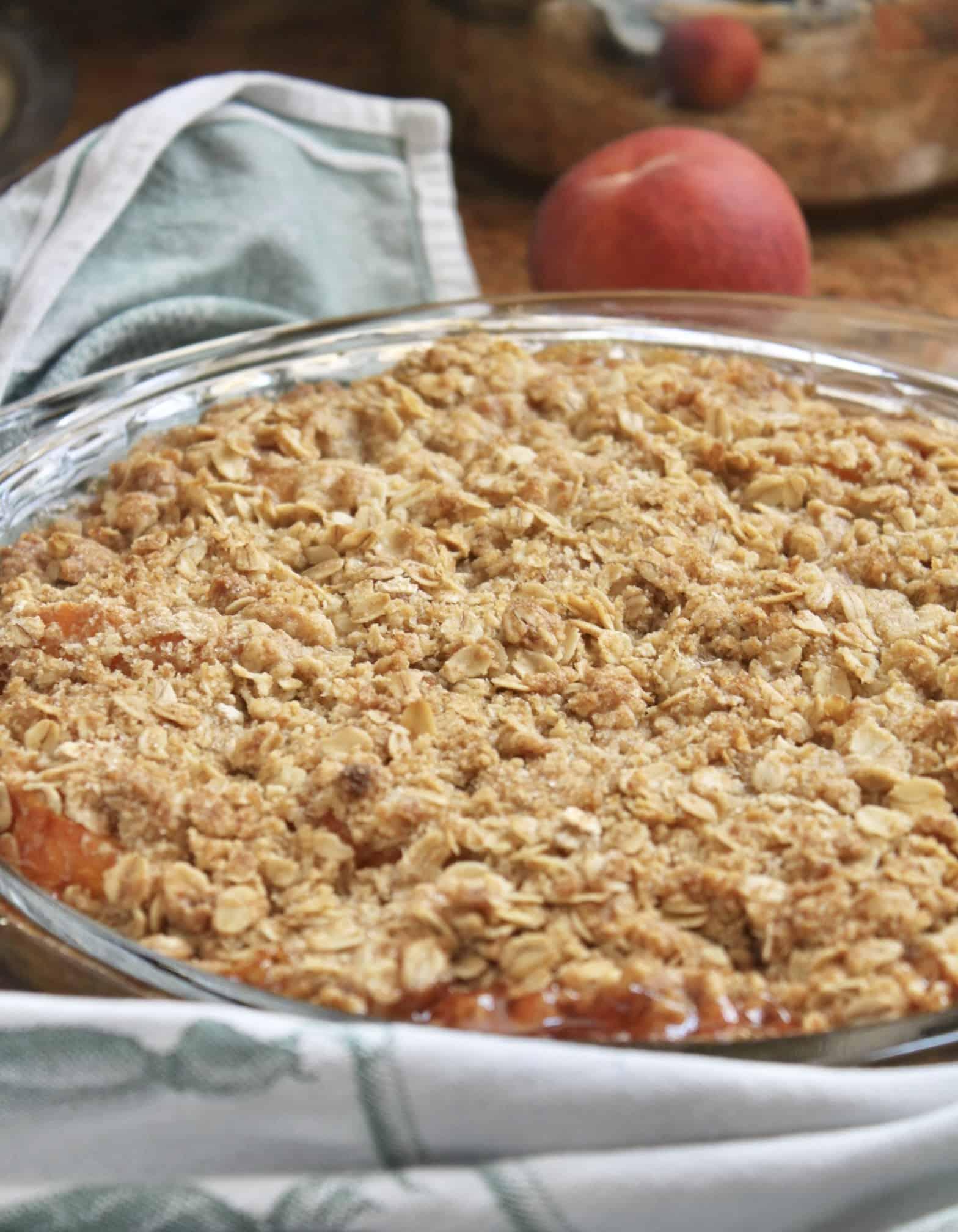 baked peach crisp