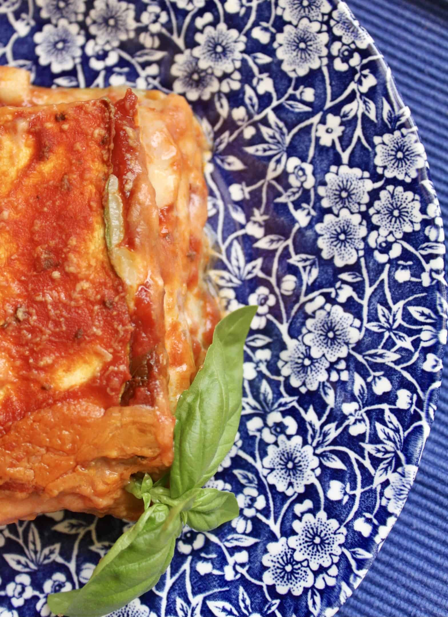 overhead zucchini lasagna