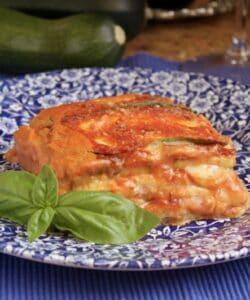 zucchini lasagna on a plate