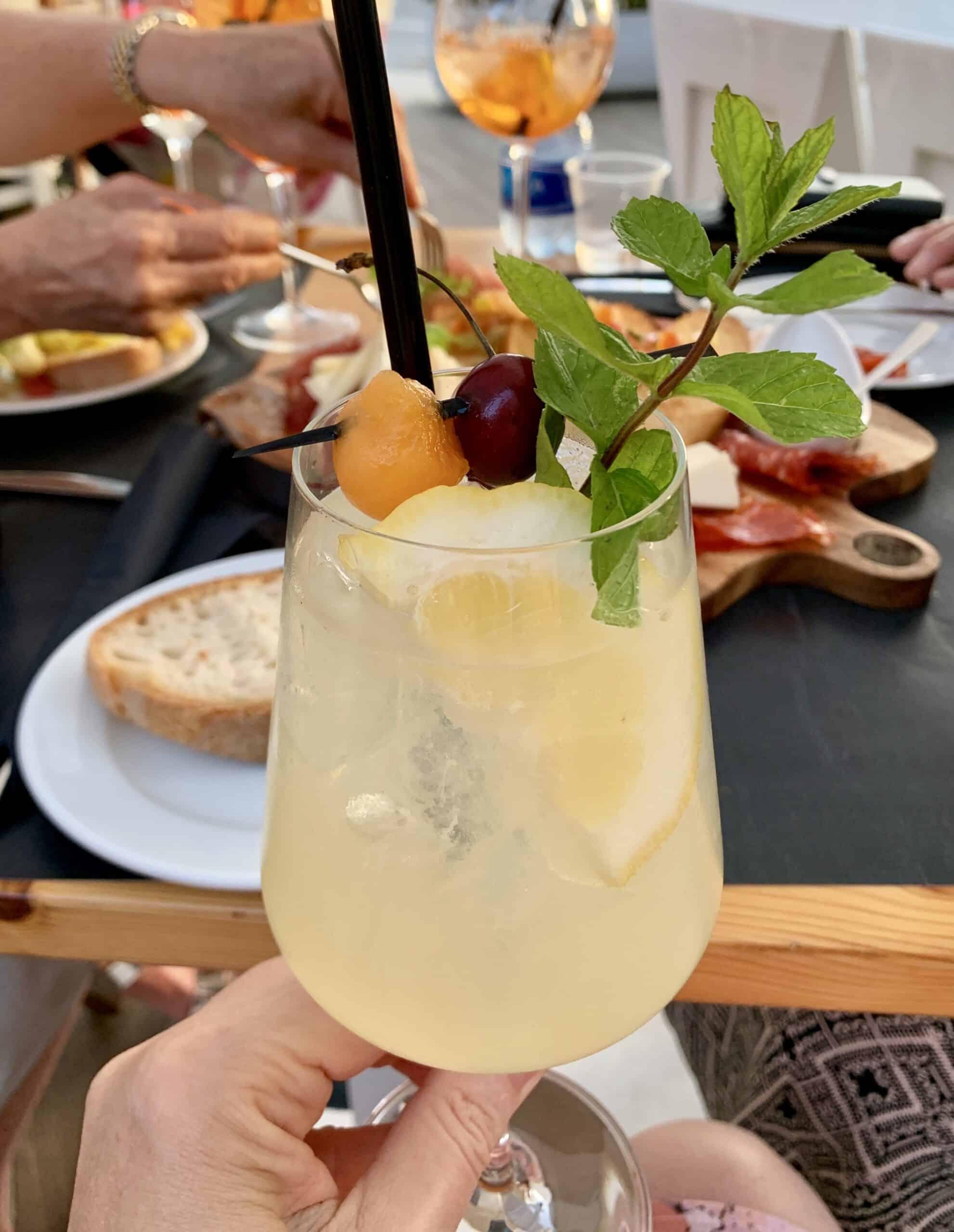 limoncello cocktail at a trattoria