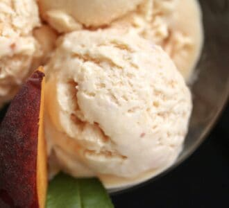 peach ice cream overhead