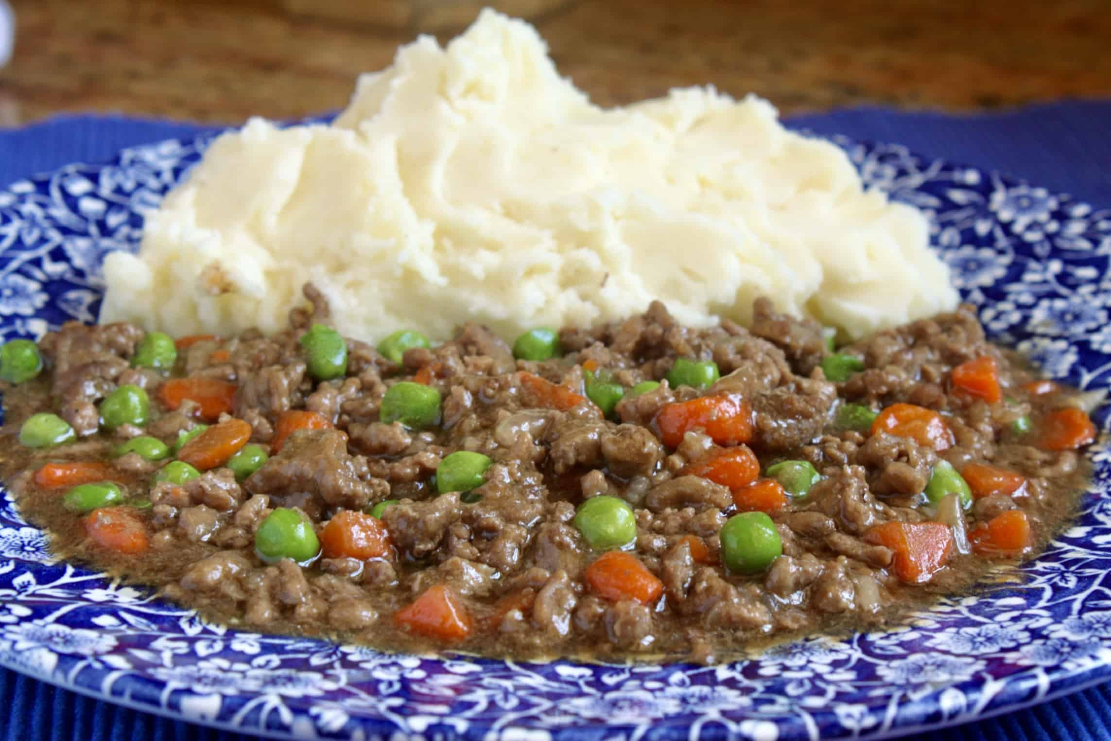 ground beef and mashed potatoes