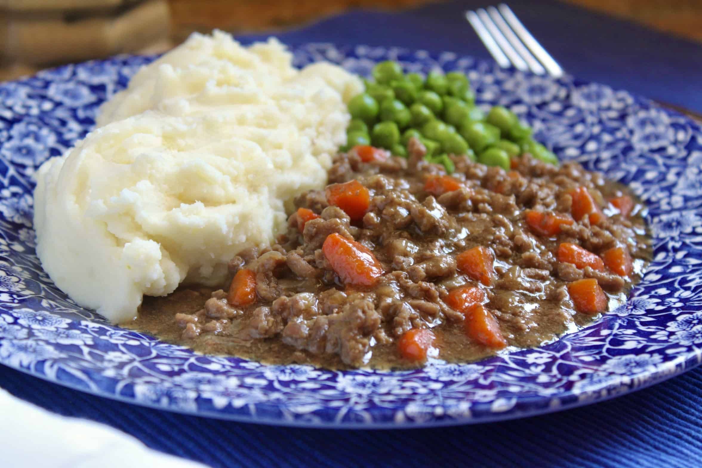 mince and tatties and peas