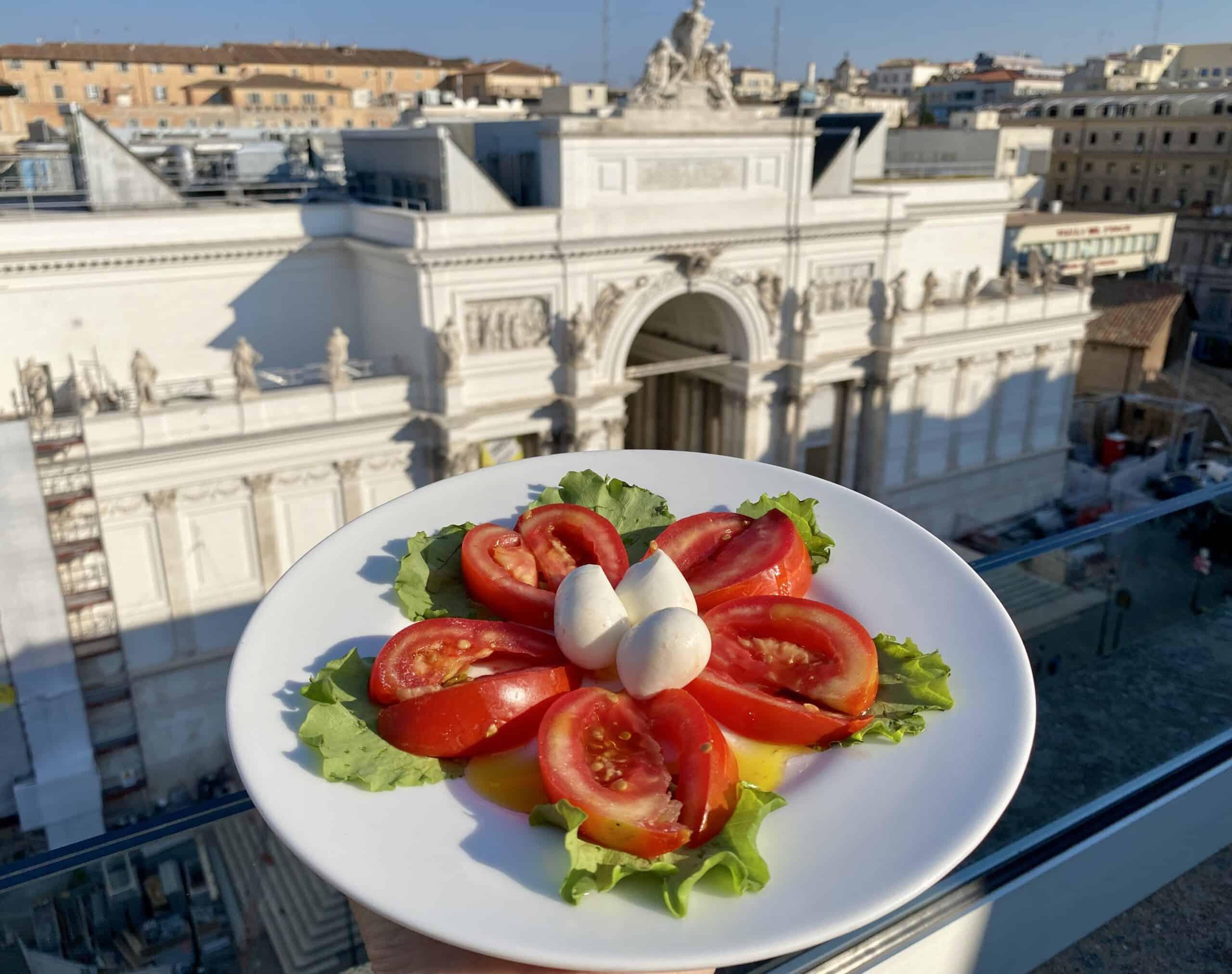 tomatoes and mozzarella in rome