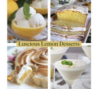 luscious lemon desserts collage