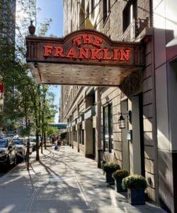 The Franklin entrance in Manhattan